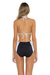 Block Party Cari Triangle Bikini Top back