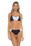 Block Party Gidget Bralette Bikini Top BAW Front