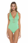 Color Splash Kate One Piece Mint Front
