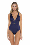 Color Splash Kate One Piece Navy Front
