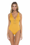 Color Splash Kate One Piece Yellow Front