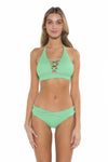 Color Splash Jenna Bikini Bottom Mint Front