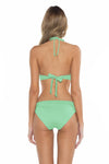 Color Splash Veronica Halter Bikini Top Mint Back