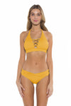 Color Splash Jenna Bikini Bottom Yellow Front