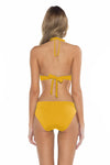 Color Splash Veronica Halter Bikini Top Yellow Back