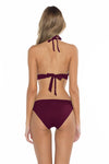 Color Splash Halie Bikini Bottom Burgundy Back