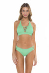 Color Splash Halie Bikini Bottom Mint Front