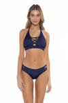 Color Splash Halie Bikini Bottom Navy Front