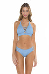 Color Splash Halie Bikini Bottom Sky Front