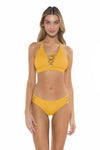 Color Splash Halie Bikini Bottom Yellow Front