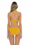 Color Splash Halie Bikini Bottom Yellow Back