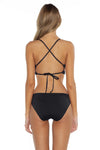 Color Splash Shay Bralette Bikini Top Black Back