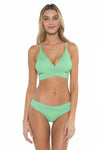 Color Splash Shay Bralette Bikini Top Mint Front