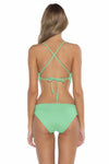 Color Splash Shay Bralette Bikini Top Mint Back