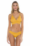 Color Splash Shay Bralette Bikini Top Yellow Front