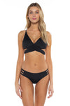 Color Splash Halie Bikini Bottom Black Front