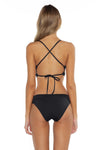 Color Splash Halie Bikini Bottom Black Back
