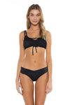 Color Splash Shirley Ballet Bikini Top Black Front