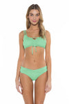 Color Splash Shirley Ballet Bikini Top Mint Front