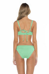 Color Splash Shirley Ballet Bikini Top Mint Back