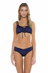Color Splash Shirley Ballet Bikini Top Navy Front