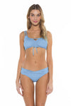 Color Splash Shirley Ballet Bikini Top Sky Front