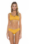 Color Splash Shirley Ballet Bikini Top Yellow Front
