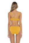 Color Splash Shirley Ballet Bikini Top Yellow Back