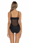 Del Mar Gabby One Piece Swimsuit Black Back