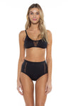 Del Mar Shelbi Ballet Bikini Top Black Front