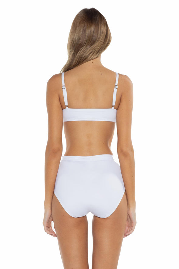 Del Mar Shelbi Ballet Bikini Top White Back
