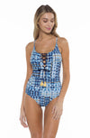 Marina Lacy One Piece Swimsuit Front