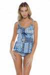 Marina Shirley Scoop Neck Tankini Top Front