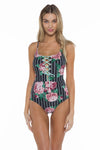 Rosa Lacy One Piece Swimsuit Front