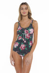 Mossimo Rosa Shirley Scoop Neck Tankini Top front