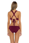 Seaside Samantha Halter Bikini Top Burgundy Back