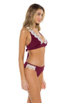 Seaside Samantha Halter Bikini Top Burgundy