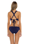Seaside Samantha Halter Bikini Top Navy Back
