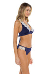 Seaside Samantha Halter Bikini Top Navy