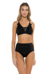 Spell Bound Layla Ballet Bikini Top Black Front