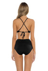 Spell Bound Taylor Bikini Bottom Black Back