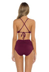 Spell Bound Taylor Bikini Bottom Burgundy Back