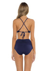 Spell Bound Layla Ballet Bikini Top Navy Back