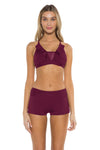 Mossimo Spell Bound Charlie Boy Short Burgundy Front
