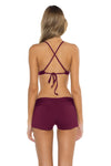 Spell Bound Charlie Boy Short Burgundy Back
