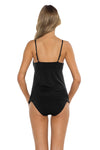 Spell Bound Layla Tankini Top Black Back