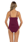 Spell Bound Layla Tankini Top Burgundy Back