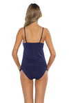 Spell Bound Layla Tankini Top Navy Back