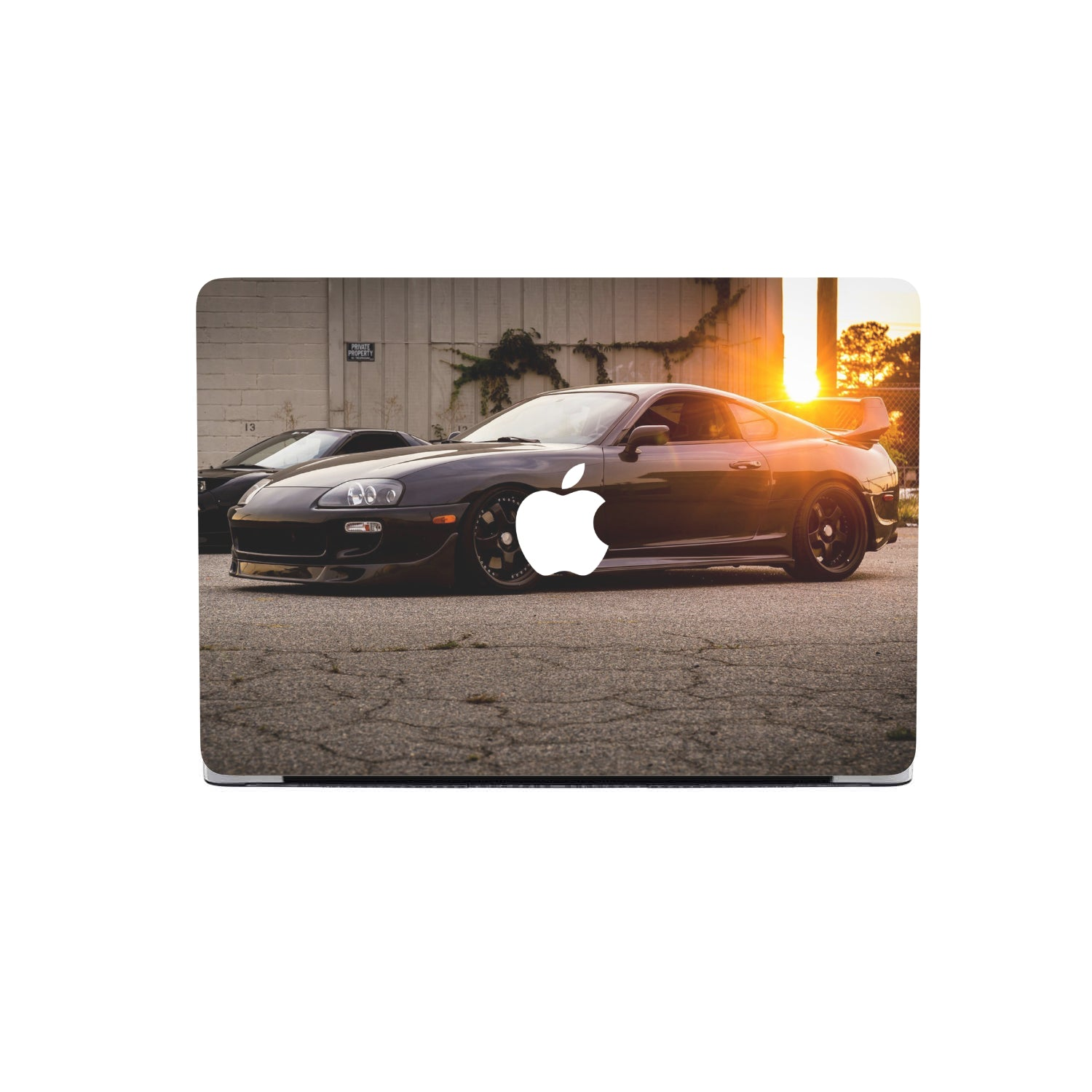 Black on Black Supra MacBook Cover