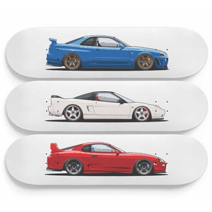 JDM Legends Skateboard Wallart